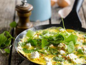 Ricotta-Omelett mit Portulak Rezept