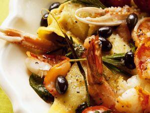 Ricotta-Ravioli mit Kaisergranat Rezept