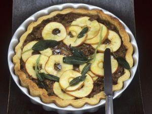 Rillette-Tarte mit Apfel Rezept
