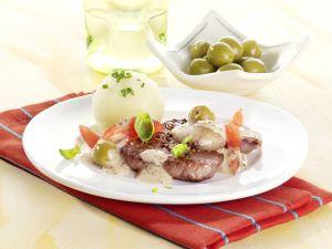 Rinderfilet in Schalotten-Senfsauce Rezept