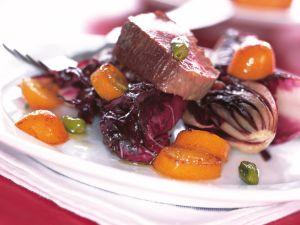 Rinderfilet mit Radicchio und Kumquats Rezept