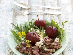 Rinderfilet mit Rotwein-Äpfeln Rezept