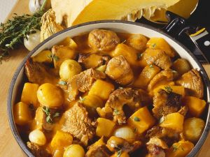 Rinderragout mit Maroni und Kürbis Rezept
