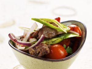 Rindfleisch-Tomatensalat mit Zitronengras Rezept
