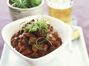 Rindfleischpfanne mit dreierlei Bohnen Rezept