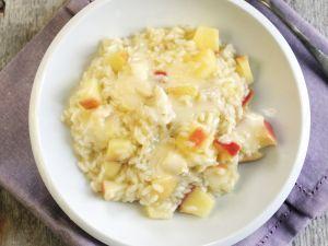 Risotto mit Apfel, dazu Gorgonzola Rezept