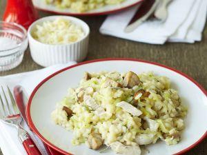 Risotto mit Huhn und Pilzen Rezept