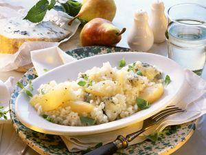 Risotto mit Käse und Birne Rezept