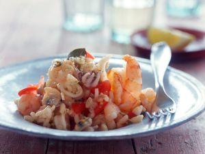 Risotto mit Meeresfrüchten Rezept