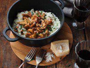 Risotto mit Pfifferlingen und Parmesan Rezept