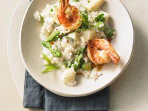 Risotto mit Shrimps und Spargel Rezept