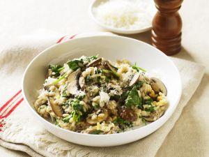 Risotto mit Spinat und Pilzen Rezept