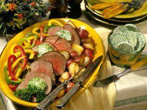 Roastbeef mit Gemüse Rezept