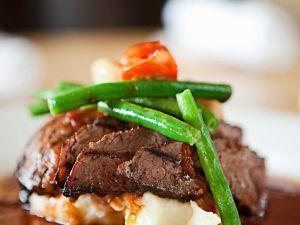 Roastbeef mit Gemüse und Püree Rezept
