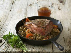 Roastbeef mit Linsen Rezept