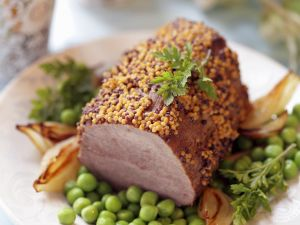 Roastbeef mit Senf und Gemüse Rezept
