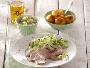 Roastbeef vom Kalb mit Koriander-Remoulade Rezept