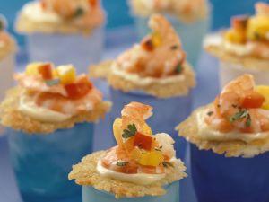 Rösti-Häppchen mit Shrimps Rezept