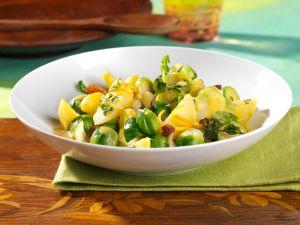 Rosenkohl-Curry mit Kartoffeln Rezept