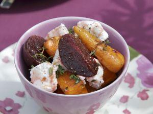 Rote-Bete-Salat mit Ziegenkäse Rezept