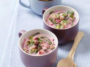Rote-Bete-Suppe mit Radieserl Rezept