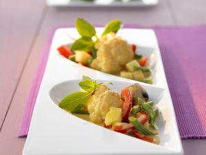 Rotes Curry mit Blumenkohl, Bohnen und Pilzen Rezept