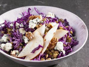 Rotkohl-Linsen-Salat Rezept