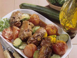 Rouladen mit Tomaten und Zucchini Rezept