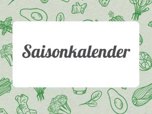 Saisonkalender für das ganze Jahr