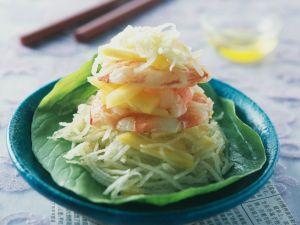 Salat aus grüner Papaya und Garnelen Rezept
