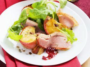 Salat mit Apfel und Gänsebrust Rezept