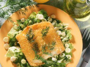 Salat mit gebackenem Käse Rezept