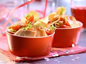 Salat mit Räucherforelle Rezept