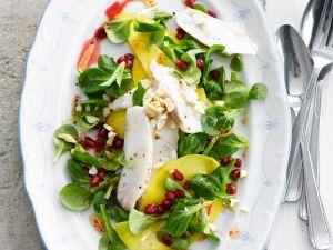 Salat mit Seeteufel und Mango Rezept