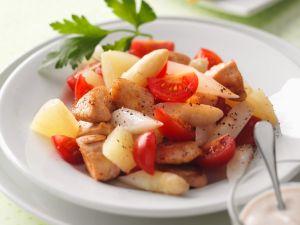 Salat mit Spargel, Pute und Cocktailtomaten Rezept