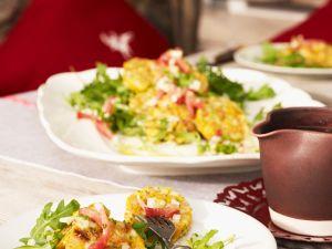 Salat mit Speckklößen Rezept
