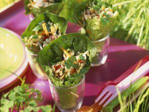 Salat-Wraps mit Hähnchen Rezept