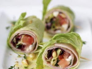 Salatröllchen mit Schinken Rezept