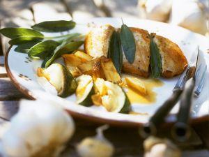 Salbei-Hähnchenbrust mit Kartoffeln Rezept