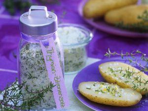 Salz mit Thymian und Zitrone Rezept
