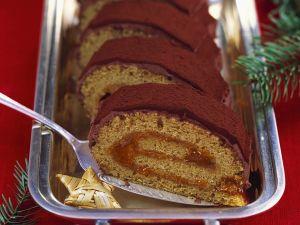 Sanddorn-Biskuitroulade Rezept