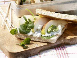Sandwich mit Birne und Gorgonzola Rezept