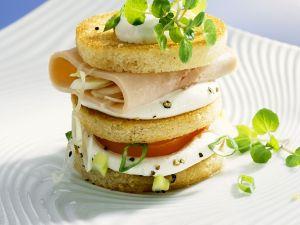 Sandwich-Türmchen Rezept