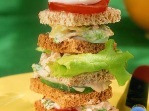 Sandwich-Turm Rezept