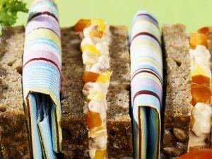 Sandwiches mit Frischkäse und Paprika Rezept