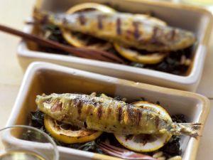 Sardinen vom Grill mit Mangold Rezept