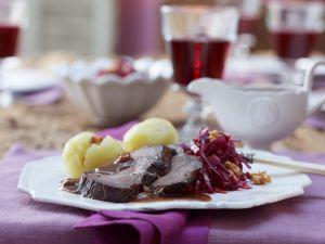 Sauerbraten mit Sauce Rezept