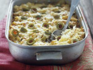 Sauerkraut-Oliven-Gratin Rezept