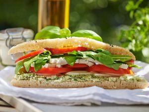 Schafskäse-Sandwich Rezept