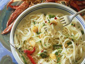 Scharfe Knoblauch-Spaghetti Rezept